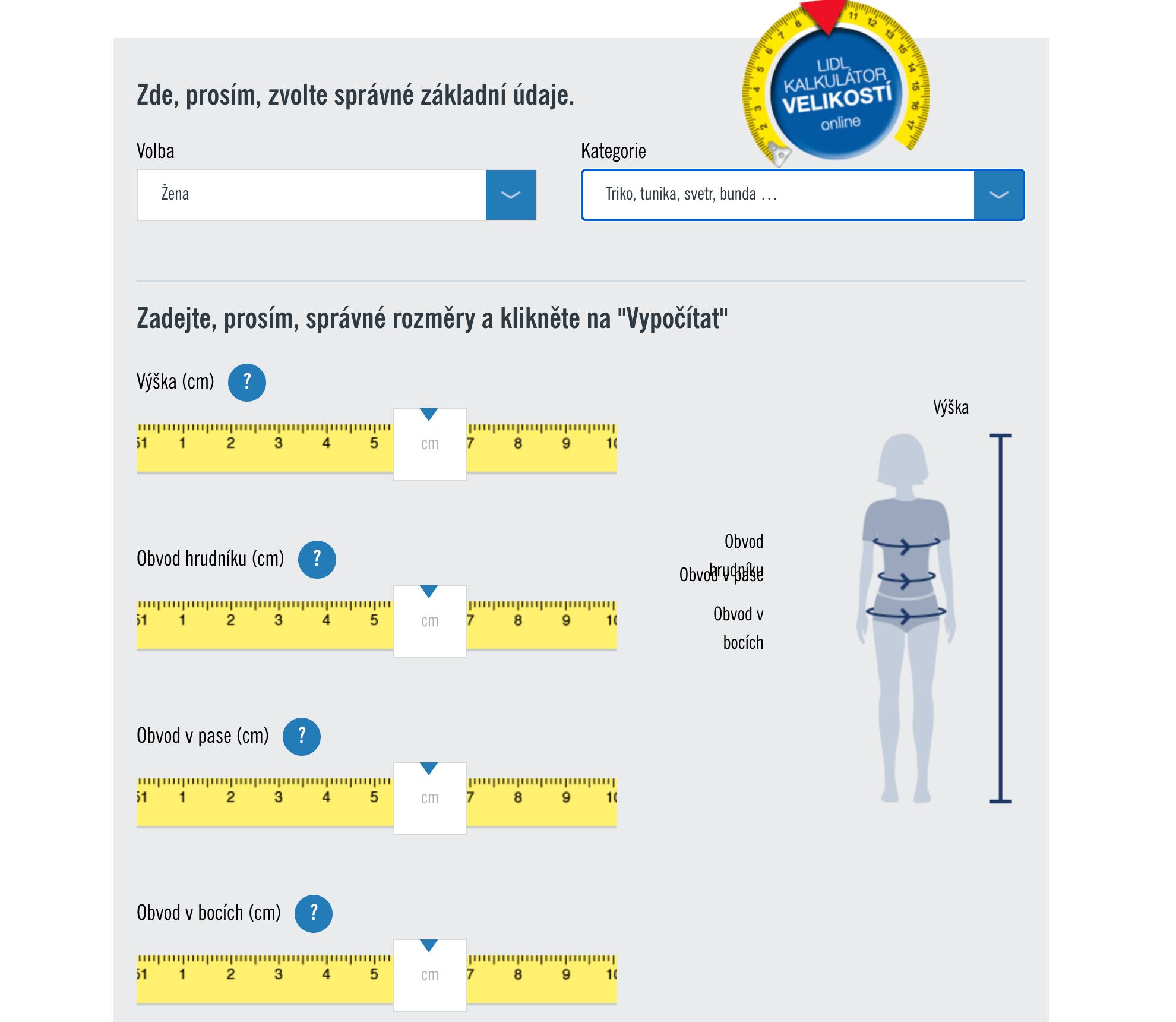 Kalkurátor velikostí Lidl.cz
