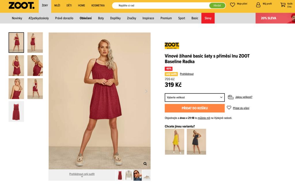 Jak najít správnou velikost šatů na ZOOT.cz?