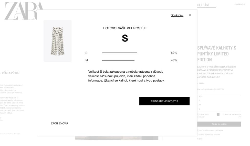 Zara - hotovo vaše velikost je S